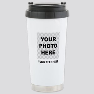 Your Photo And Text Travel Mug