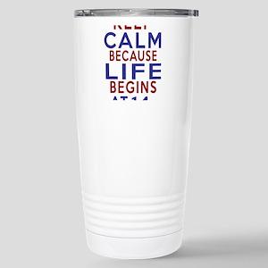 Life Begins At 14 Stainless Steel Travel Mug