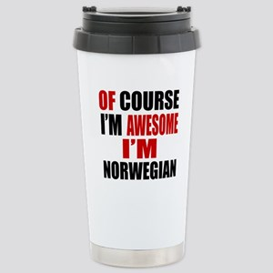 Of Course I Am Norwegia Stainless Steel Travel Mug
