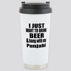 Hang With My Punjabi Stainless Steel Travel Mug