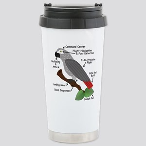 Anatomy of an African Grey Parrot Travel Mug