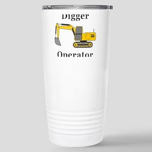 Digger Operator Stainless Steel Travel Mug