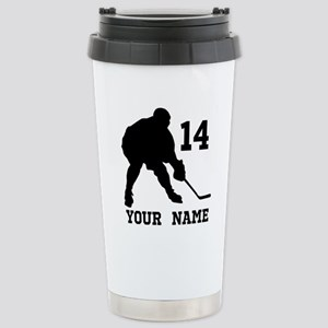 Custom Hockey Player Gift Travel Mug