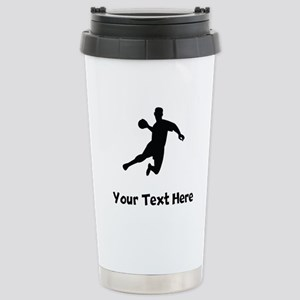 Dodgeball Player Silhouette Travel Mug
