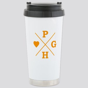 Love Pittsburgh Stainless Steel Travel Mug