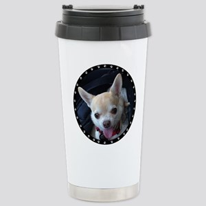 Personalized Paw Print Stainless Steel Travel Mug