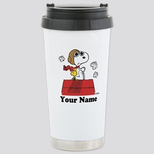 Peanuts Flying Ace Pers Stainless Steel Travel Mug