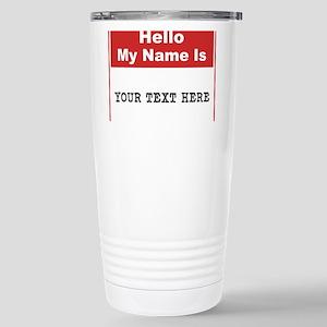 Custom Name Tag Stainless Steel Travel Mug