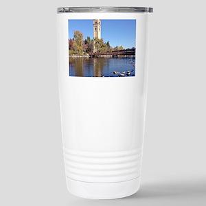 Clock Tower River View Travel Mug