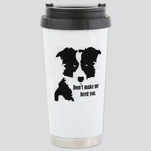 Border Collie Art Travel Mug