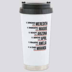 Be Strong Like Me 16 oz Stainless Steel Travel Mug