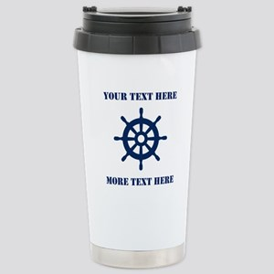 Custom nautical ship wheel Travel Mug