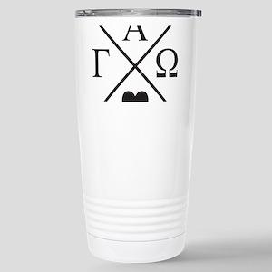 Gamma Alpha Omega 16 oz Stainless Steel Travel Mug