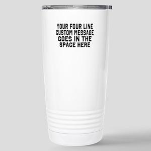 Customize Four Li 16 oz Stainless Steel Travel Mug