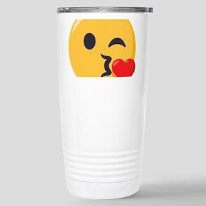 Kissing Emoji 16 oz Stainless Steel Travel Mug