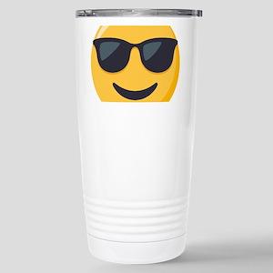 Sunglasses Emoji 16 oz Stainless Steel Travel Mug