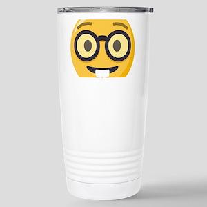 Nerd-face Emoji 16 oz Stainless Steel Travel Mug