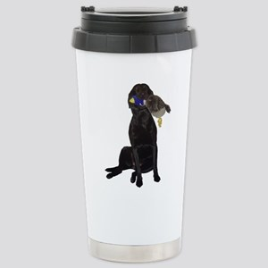 lab with duck Stainless Steel Travel Mug