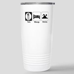 Eat. Sleep. Swim. Stainless Steel Travel Mug