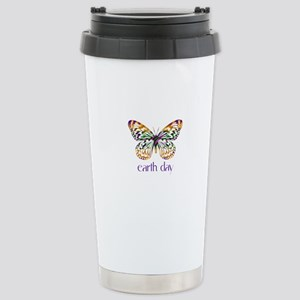 Earth Day - Butterfly Stainless Steel Travel Mug