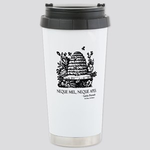 Latin Bees Proverb Stainless Steel Travel Mug