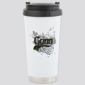 Gunn Tartan Grunge Stainless Steel Travel Mug