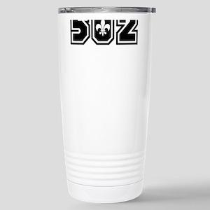 Black/White 502 Stainless Steel Travel Mug