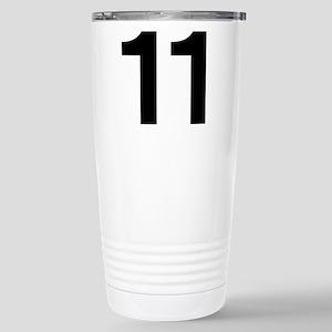 Number 11 Helvetica Stainless Steel Travel Mug