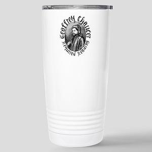 Geoffrey Chaucer Stainless Steel Travel Mug