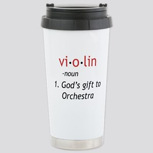 Definition of a Violin Stainless Steel Travel Mug