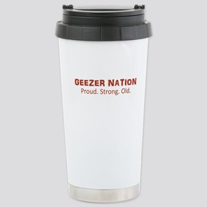 Proud. Strong. Old. Stainless Steel Travel Mug