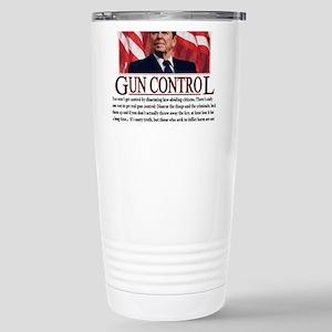 Gun Control Stainless Steel Travel Mug
