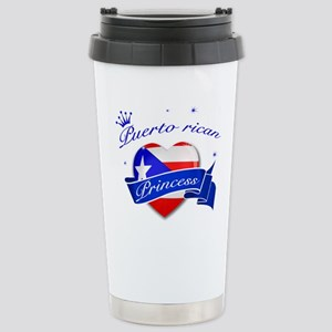 Puertorican Princess Stainless Steel Travel Mug