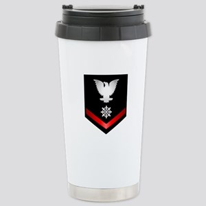 Navy PO3 Quartermaster Stainless Steel Travel Mug