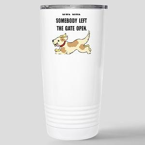 Dog Gate Open Stainless Steel Travel Mug
