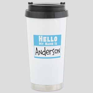 Personalized Name Tag Stainless Steel Travel Mug
