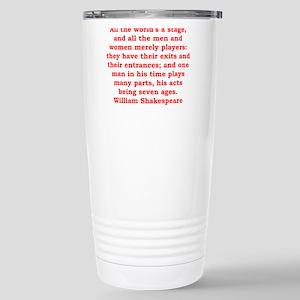 william shakespeare Stainless Steel Travel Mug