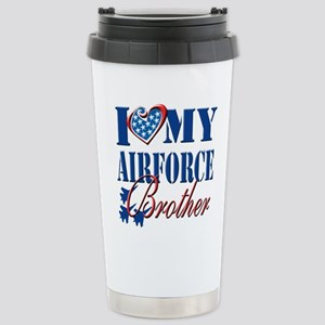 I Love My Airforce Brother Travel Mug