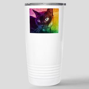 Burmese Cat Portrait B Travel Mug
