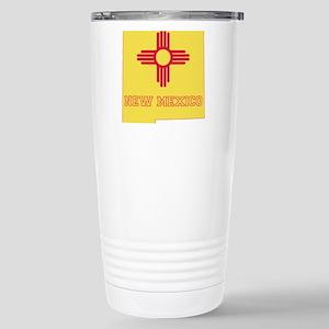 New Mexico Flag Stainless Steel Travel Mug