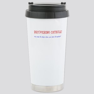 Recovering Catholic 12 Steps Travel Mug
