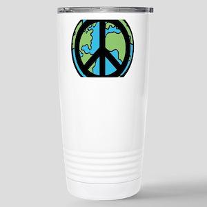 Peace on Earth in Black Travel Mug