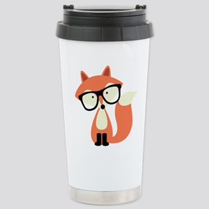 Hipster Red Fox Stainless Steel Travel Mug