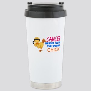 Cancer Messed With The Wrong Chick Travel Mug