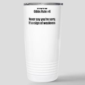 Gibbs Rule #6 Stainless Steel Travel Mug