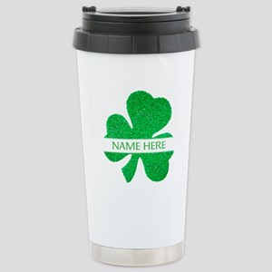 Custom Name Shamrock Travel Mug
