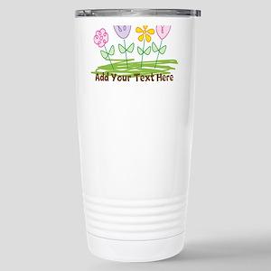 Custom Cute Flowers Travel Mug