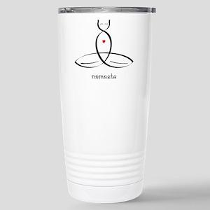 Cat Meditator - Namaste Stainless Steel Travel Mug