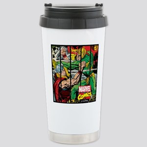 Marvel Loki and Thor Stainless Steel Travel Mug