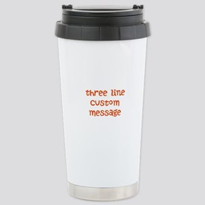 Three Line Custom Design Travel Mug